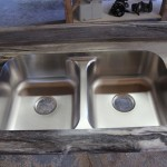 Stainless steel double equal bowl in Dolce Vita laminate